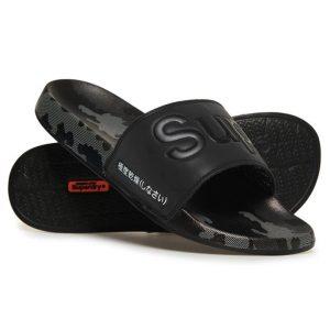 Superdry Superdry Aop Beach Slide Black 3 M/Black/Mono Camo Dot