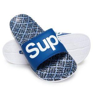 Superdry Superdry Aop Beach Slide Cobalt/Optc Whte/Nvy Tile Aop