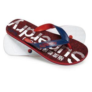 Superdry Scuba Grit Flip Flop Blue Dpths/Optc White/Red Grit