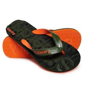 Superdry Scuba Grit Flip Flop Khaki Camo/Khaki/Orange