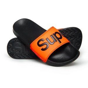 Superdry Superdry Pool Slide Black/Hazard Orange/Optic