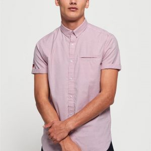 Superdry Premium University S/S Shirt Micro Stripe Pink