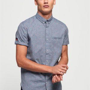 Superdry Premium University S/S Shirt Walter Tri Chambray