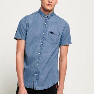 Superdry Miami Loom Shirt Vintage Blue Wash