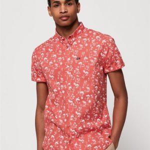 Superdry Premium Shoreditch S/S Shirt Akio Coral