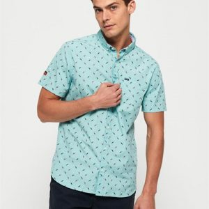 Superdry Premium Shoreditch S/S Shirt Turquoise Toucans