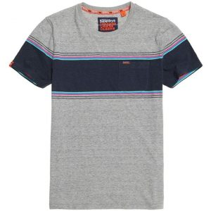 Superdry Orange Label Chestband Pkt Tee Mid Cali Grey Grit