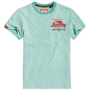 Superdry Limited Icarus Hyper Classic T Pool Blue