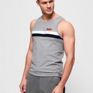 Superdry Tri Colour Vest Grey Marle