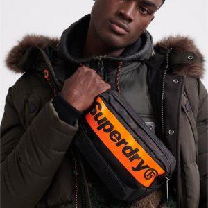 Superdry International Bum Bag Black Camo