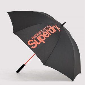 Superdry Sd Golf Umbrella Black/Orange