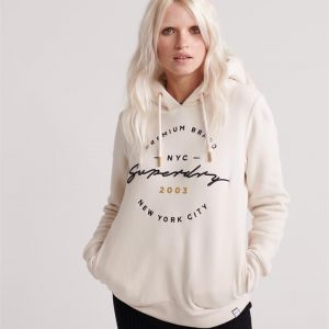 Superdry Applique Hood Soft White