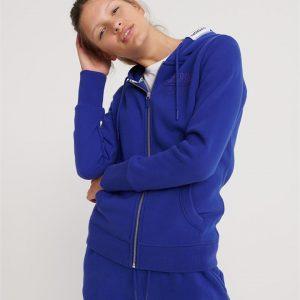 Superdry Track & Field Ziphood Dazzling Blue