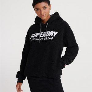Superdry Kayla Sherpa Hood Black