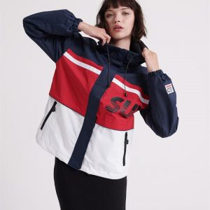 Superdry Colour Block Track Jacket Red