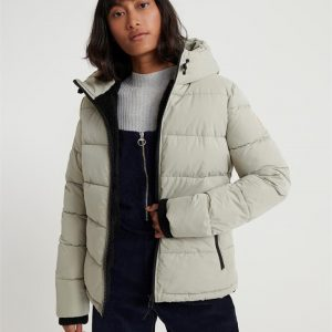 Superdry Akan Microfibre Padded Jacket Abbey Stone