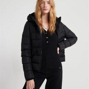 Superdry Premium Down Luxe Quilt Jacket Black