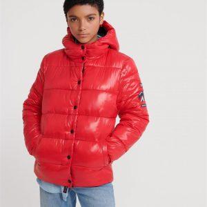 Superdry High Shine Toya Puffer Red
