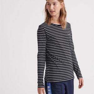 Superdry Ol Essential Ls Top Black Stripe
