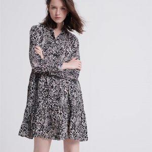 Superdry Scandi Shirt Dress Alaska Leopard Print