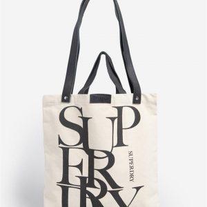 Superdry Edit Printed Shopper Natural