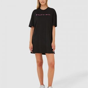 Superdry Hyper Oversized T Shirt Dress Black
