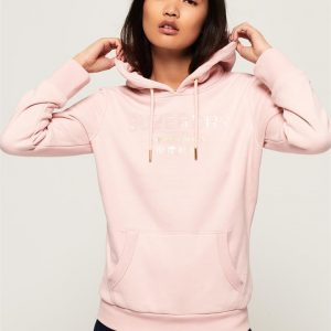 Superdry Premium Brand Entry Hood Shell Pink