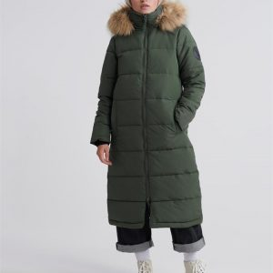 Superdry Longline Quilted Everest Jackt Thyme
