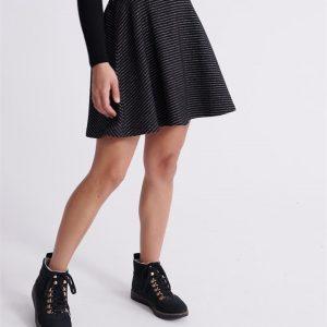 Superdry Jacquard Skater Skirt Black