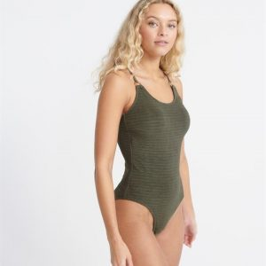 Superdry Alchemy Circle Swimsuit Capulet Olive
