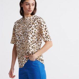 Superdry Desert Leopard Os Tee Animal Print