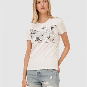 Superdry Vl Rose Panel Entry Tee Ice Marle