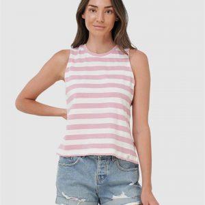 Superdry Summer Stripe Tank Soft Pink