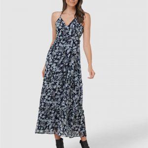Superdry Margaux Maxi Dress Navy Floral