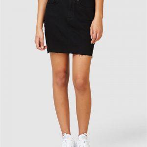 Superdry Denim Mini Skirt Black