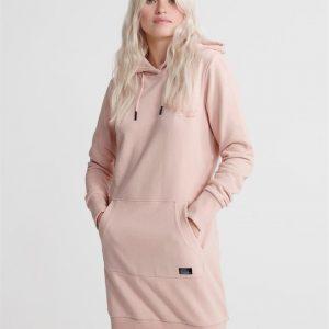 Superdry Ol Sweat Dress Dusty Pink