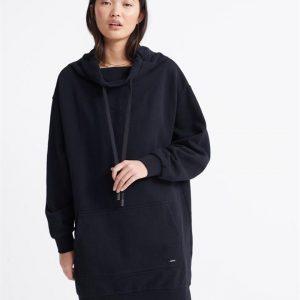 Superdry Arizona Funnel Sweat Dress Black