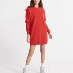 Superdry Alchemy Sweat Dress Apple Red