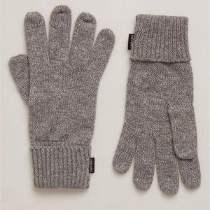 Superdry Heritage Ribbed Gloves Light Grey Marle