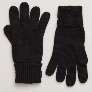 Superdry Heritage Ribbed Gloves Black