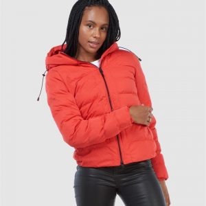 Superdry Boston Microfibre Jacket High Risk Red