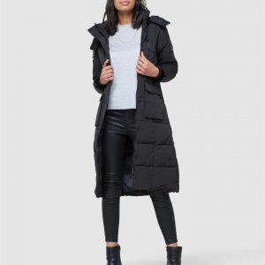 Superdry Longline Everest Coat Black