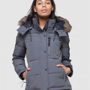 Superdry Premium Rescue Down Jacket Charcoal