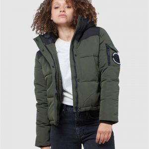 Superdry Quilted Everest Jacket Army Khaki