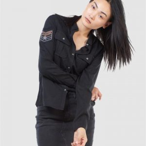 Superdry Military Pocket Shirt Black