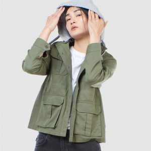 Superdry Core Military Patched Hood Army Green