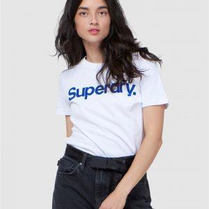 Superdry Cl Flock Tee Optic