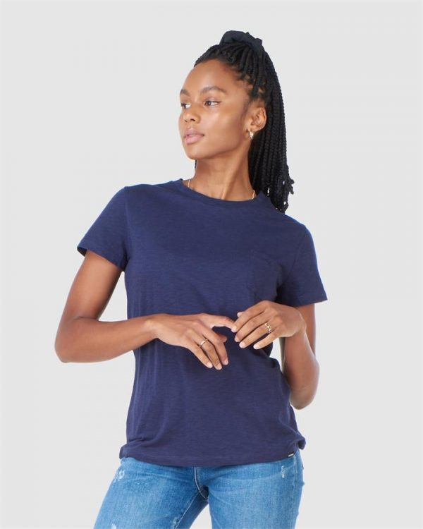 Superdry Scripted Crew Tee Nautical Navy