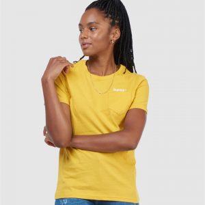 Superdry Cl Patina Tee Yolk Yellow