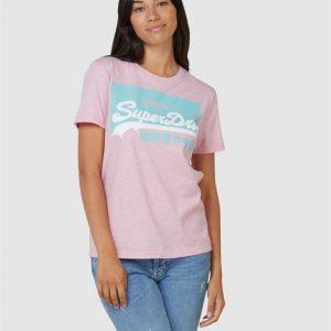 Superdry Vl O Pastel Tee Montauk Pink